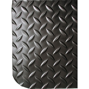 Wearwell Ultrasoft Diamond-Plate No. 414, 2' x 3', Black