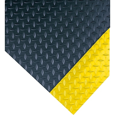 Wearwell – Tapis long Diamond-Plate no 385, 3 x 75 (pi), noir/jaune