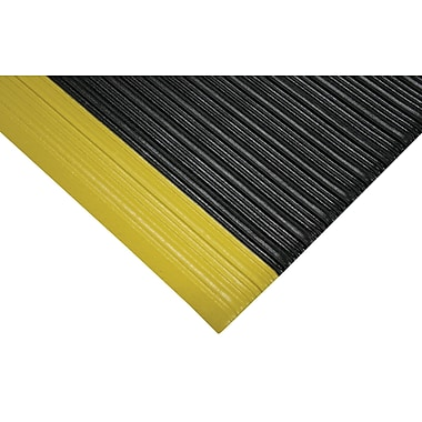 Wearwell Tuf Sponge No. 451 Matting, 3' x 5', Black/Yellow