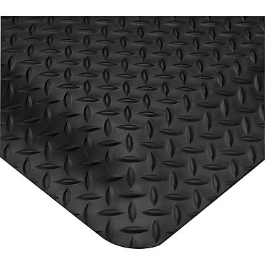 Wearwell – Tapis SMART Diamond-Plate de 5/8 po no 497, 2 x 75 pi, noir