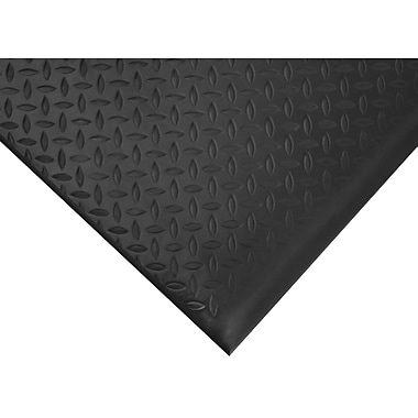 Wearwell – Tapis substance nº 513, surface à motif de losanges, 2 x 3 pi, noir