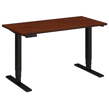 Bush Business Furniture 48W x 24D Height Adjustable Standing Desk, Hansen Cherry (HAT4824HCBKFA)