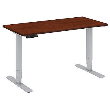 Bush Business Furniture 48W x 24D Height Adjustable Standing Desk, Hansen Cherry (HAT4824HCKFA)
