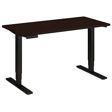 Bush Business Furniture 48W x 24D Height Adjustable Standing Desk, Mocha Cherry (HAT4824MRBKFA)