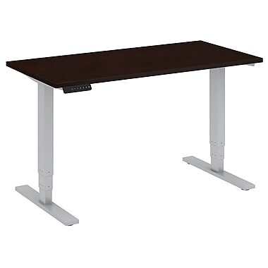 Bush Business Furniture 48W x 24D Height Adjustable Standing Desk, Mocha Cherry (HAT4824MRK)