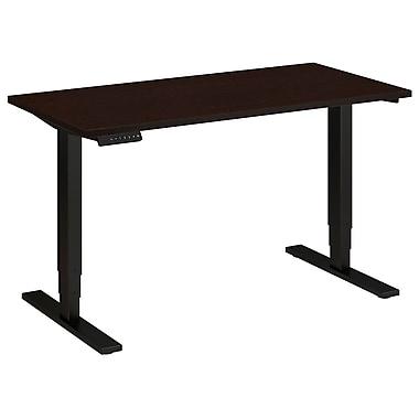 Bush Business Furniture 48W x 24D Height Adjustable Standing Desk, Mocha Cherry (HAT4824MRSBK)