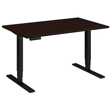 Bush Business Furniture 48W x 30D Height Adjustable Standing Desk, Mocha Cherry (HAT4830MRBK)