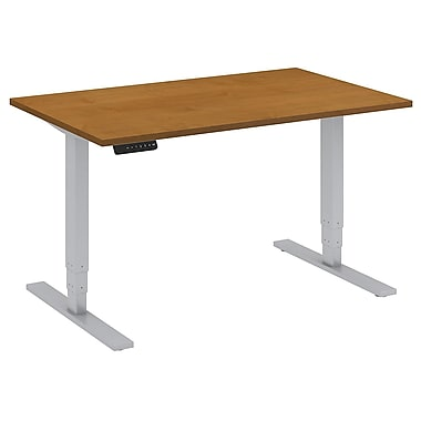 Bush Business Furniture 48W x 30D Height Adjustable Standing Desk, Natural Cherry (HAT4830NCK)