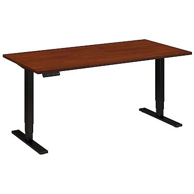 Bush Business Furniture 60W x 30D Height Adjustable Standing Desk, Hansen Cherry (HAT6030HCBK)