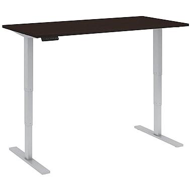 Bush Business Furniture 60W x 30D Height Adjustable Standing Desk, Mocha Cherry (HAT6030MRK)
