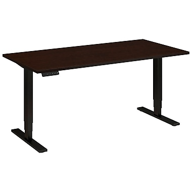 Bush Business Furniture 60W x 30D Height Adjustable Standing Desk, Mocha Cherry (HAT6030MRSBKFA)