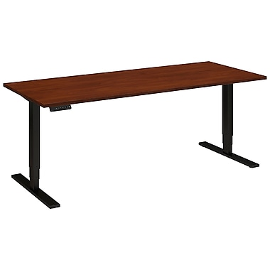 Bush Business Furniture 72W x 30D Height Adjustable Standing Desk, Hansen Cherry (HAT7230HCBKFA)
