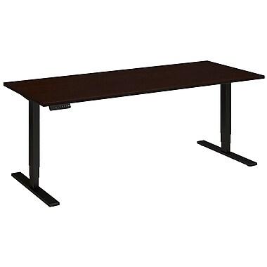 Bush Business Furniture 72W x 30D Height Adjustable Standing Desk, Mocha Cherry (HAT7230MRBK)