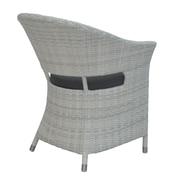 David Francis Furniture Newport Patio Dining Chair w/ Cushion; Natural
