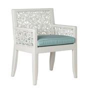 David Francis Furniture Mykonos Patio Dining Chair w/ Cushion; Glacier