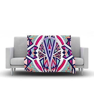KESS InHouse Abstract Journey by Pom Graphic Design Fleece Throw Blanket; 80'' H x 60'' W x 1'' D