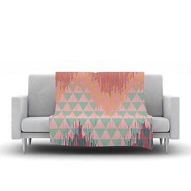 KESS InHouse Ikat Geometrie II by Nika Martinez Fleece Throw Blanket; 40'' H x 30'' W x 1'' D