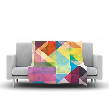 KESS InHouse Color Blocking II by Mareike Boehmer Fleece Throw Blanket; 80'' H x 60'' W x 1'' D