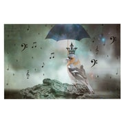 KESS InHouse Umbrella Bird by Suzanne Carter Fleece Throw Blanket; 60'' H x 50'' W x 1'' D