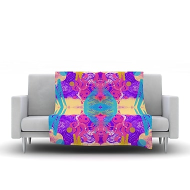 KESS InHouse Glitch Kaleidoscope by Vasare Nar Fleece Throw Blanket; 40'' H x 30'' W x 1'' D