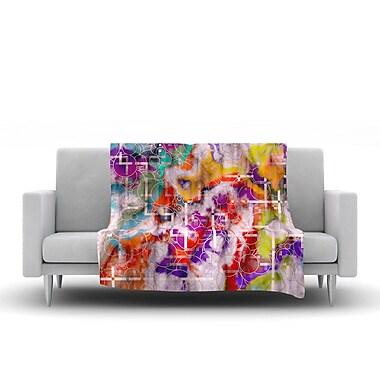 KESS InHouse Quantum Foam by Michael Sussna Fleece Throw Blanket; 40'' H x 30'' W x 1'' D
