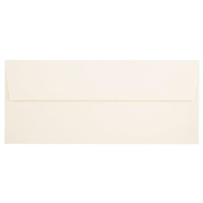 JAM Paper® #10 Business Envelopes, 4 1/8 x 9 1/2, Strathmore Natural White Linen, 1000/carton (191170B)