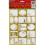JAM Paper® Christmas Gift Tag To From Holiday Stickers, Gold Foil, 40/Pack (2207016164)