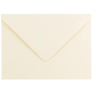 JAM Paper® A7 Invitation Envelopes, 5.25 x 7.25, 80lb Strathmore Ivory Laid with V-Flap, 100/pack (1921402C)