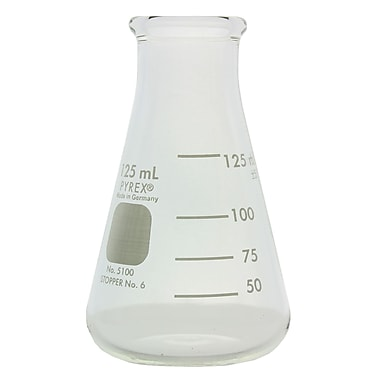 Pyrex Wide Mouth Erlenmeyer Flask, 125ml