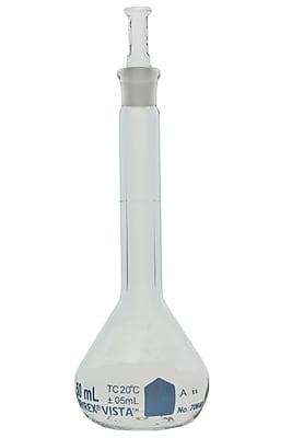 Pyrex Vista Volumetric Flask, Class A, 50ml