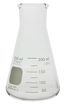 Pyrex Wide Mouth Erlenmeyer Flask, 250ml