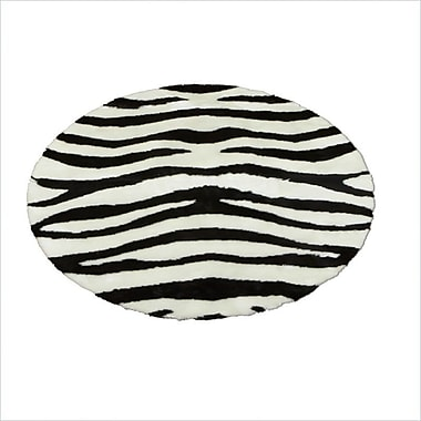 Walk On Me Animal Zebra Bold Striped Area Rug; Rectangle 2'3'' x 3'8''