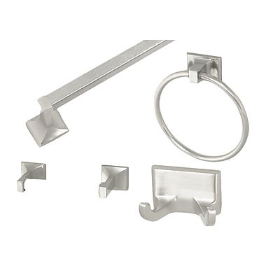 Design House Millbridge 4 Piece Bathroom Hardware Set; Satin Nickel