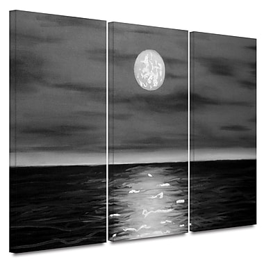 ArtWall 'Moon Rising' by Jim Morana 3 Piece Painting Print on Wrapped Canvas Set