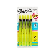 Sharpie® Accent® Retractable Highlighters, Narrow Chisel Tip, Fluorescent Yellow, 5/pk (1740822)