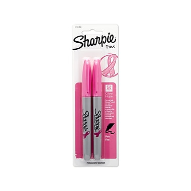 Sharpie® Pink Ribbon Permanent Markers, Fine Point, Pink, 2/pk (1741763)