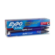 Expo® Click Dry Erase Markers, Fine Tip, Assorted Colors, 12/pk (1751670)