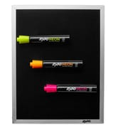 """Expo® Black Magnetic Dry-Erase Board with Neon Markers, 8"""" x 11"""" (1764037)"""