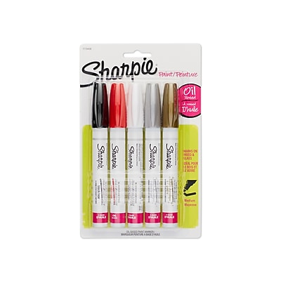 Sharpie® Oil-Based Paint Marker, Medium Tip, Assorted, 5/pk (1770458)