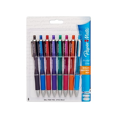 Paper Mate® Profile® Elite Pens, 1.4 mm, Assorted Ink, 8/pk (1776385)