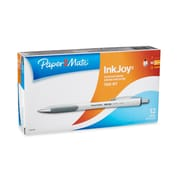 Paper Mate® InkJoy® 700RT Ballpoint Retractable Pens, Medium Point, White Barrel, Blue Ink, Box of 12 (1951346)
