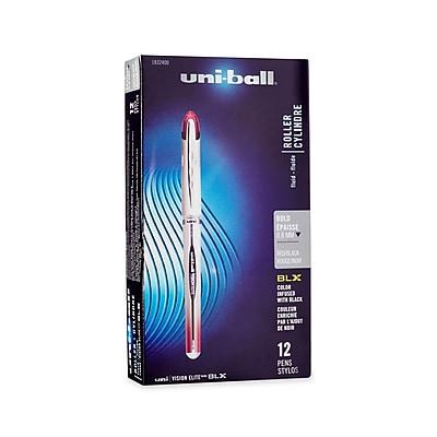 uni-ball® Vision Elite BLX Series, 0.8 mm, Red/Black, 12/pk (1832400)