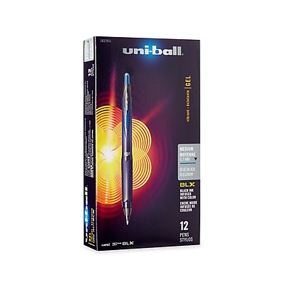 uni-ball® 207 BLX Retractable Gel-Ink Pens, Medium, Blue/Black, 12/Pk (1837931)