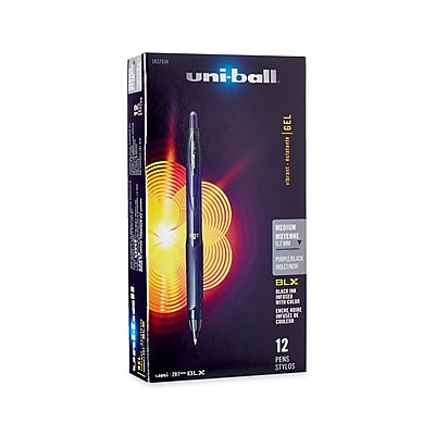 uni-ball® 207 BLX Retractable Gel-Ink Pens, Medium, Black, 12/Pack (1837934)