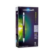 uni-ball® Jetstream RT BLX Retractable Rollerball Pen, Bold Point, Blue/Black, 12/pk (1858845)
