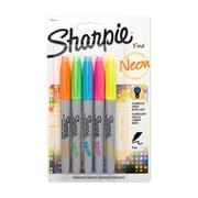 Sharpie® Neon Fine Point Permanent Markers, 5/pk (1860443)