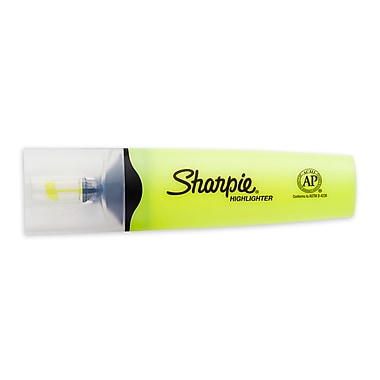 Sharpie® Clear View Highlighter, Chisel Tip, Yellow, 12/pk (1897847)