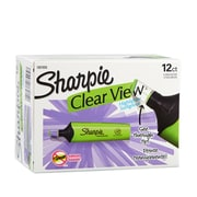 Sharpie® Clear View Highlighter, Chisel Tip, Green, 12/pk (1897850)