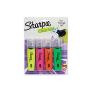 Sharpie® Clear View Highlighters, Chisel Tip, Assorted Colors, 4/pk (1897846)