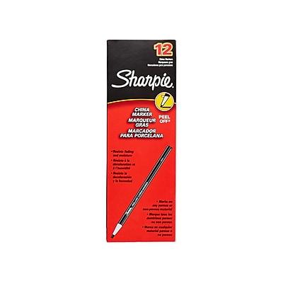 Sharpie® Peel-Off China Marker, White, 12/pk (SAN02060)